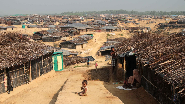 A Rohingya refugee camp in Bangledesh.