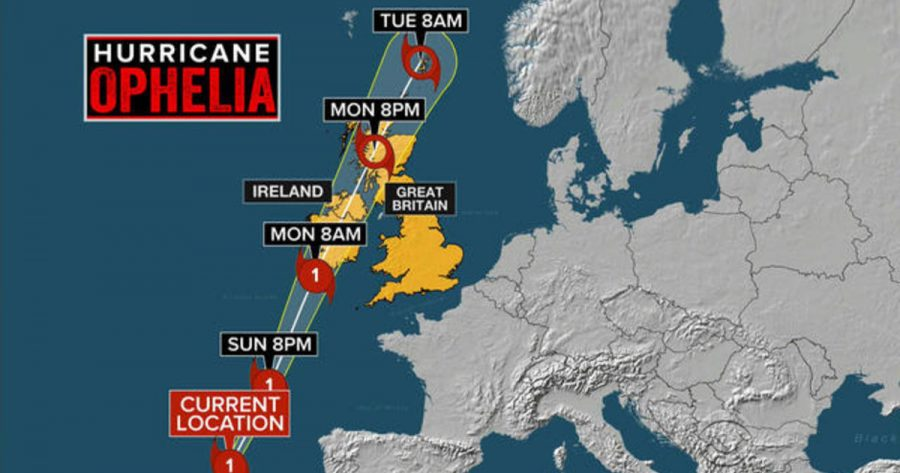CBS News Ophelia Coverage Map