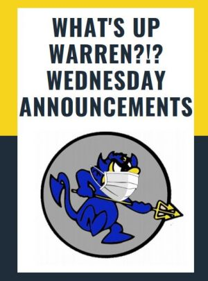 WTHS WEEKLY ANNOUNCEMENTS 3/31/21