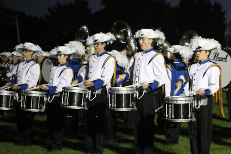 Warren Township High School Marching Band Performs At First Competition of 2021